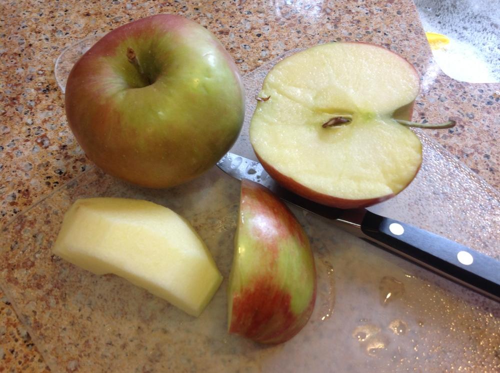 Jonagold (upper left) and Northern Spy apples