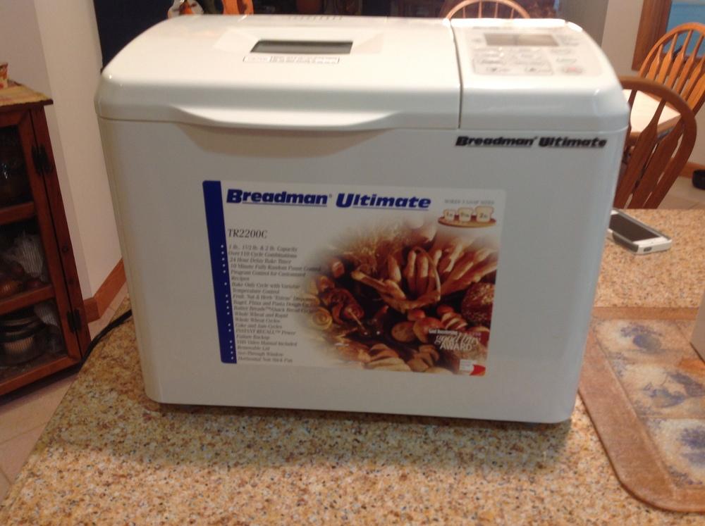 My Breadman bread machine