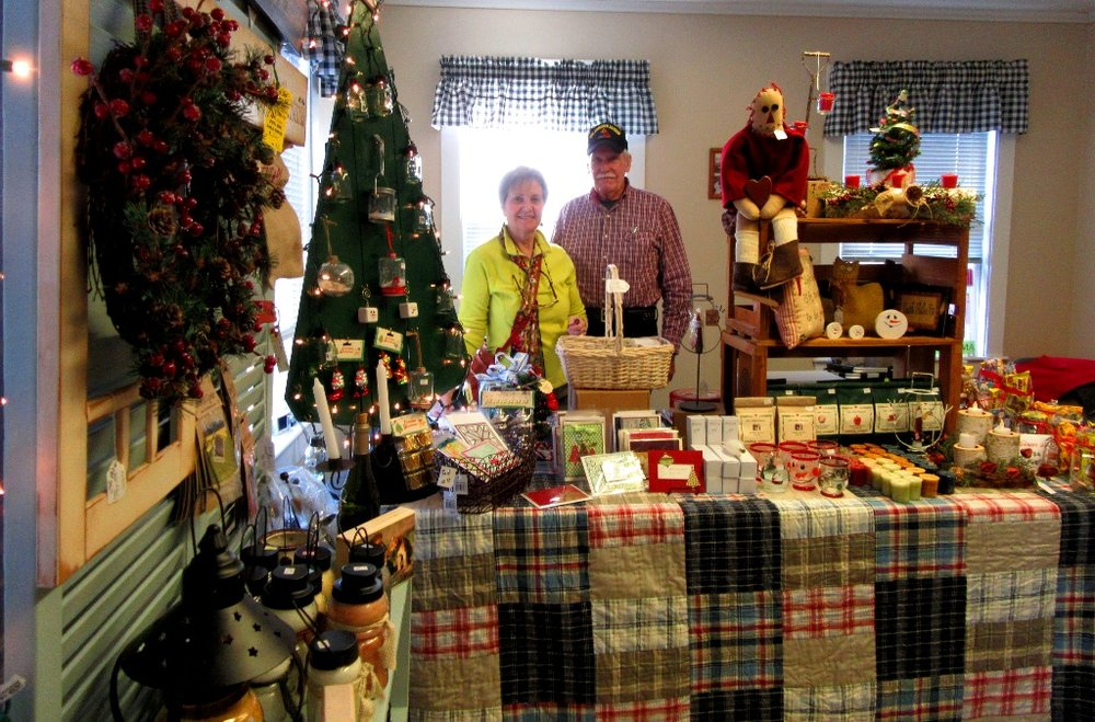 The All Things Repurposed booth was manned by Bill and Linda from East Hampstead  who are a married couple promoting this tasteful, country-ish store.