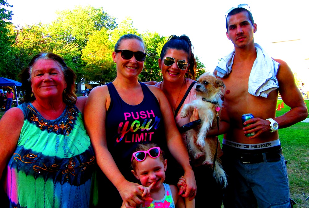 This was my family and dog on a leash last year in August.