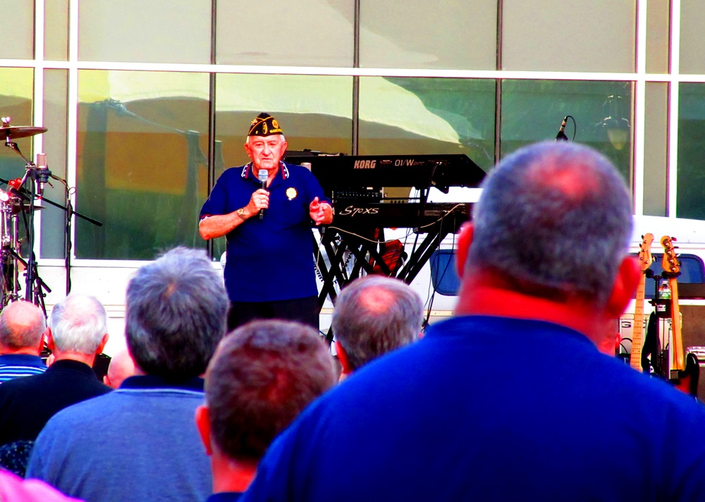 Veteran singing the National Anthem