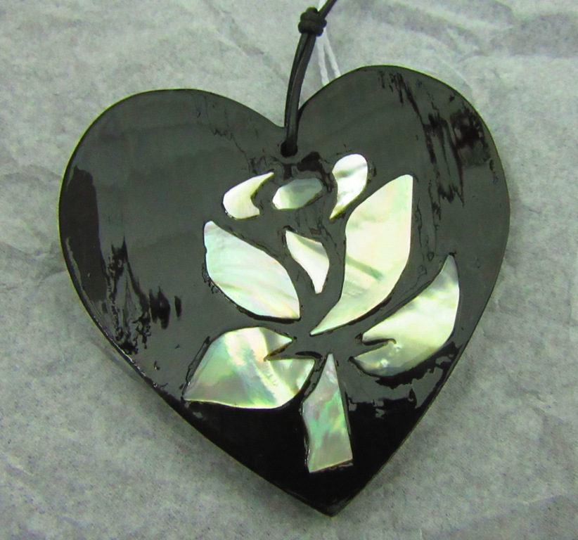 The heart I made for this show, a little different again and in Ebony wood.