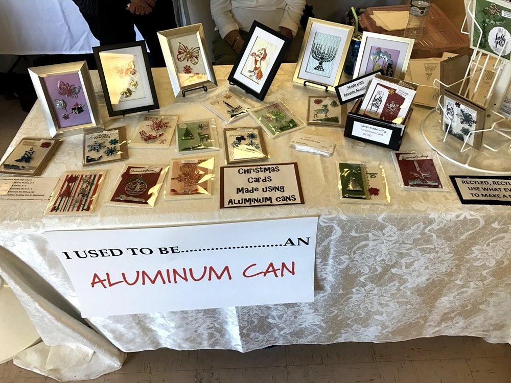 Irene E. DuPont's Aluminum Can art