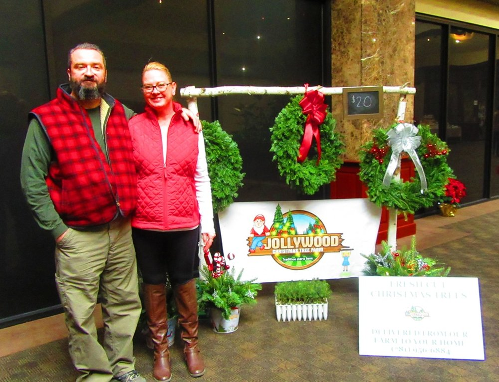 Stephen and Stacey Forster from Jollywood Christmas Tree Farms