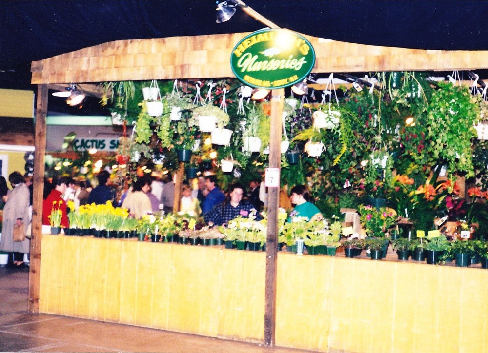 the Heimlich's Nursery booth in the vendor area