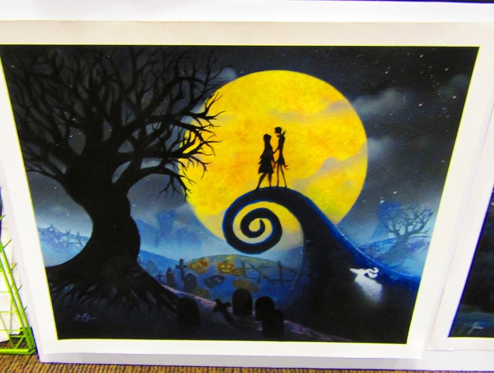 Nightmare Before Christmas spray paint art