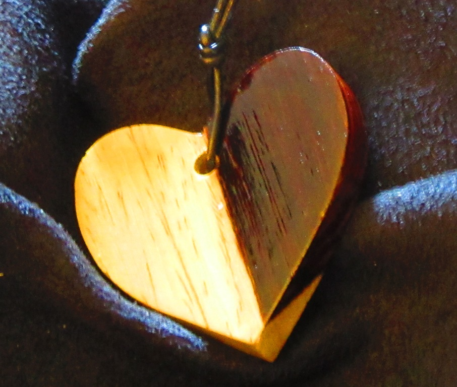 Cocobolo heart back