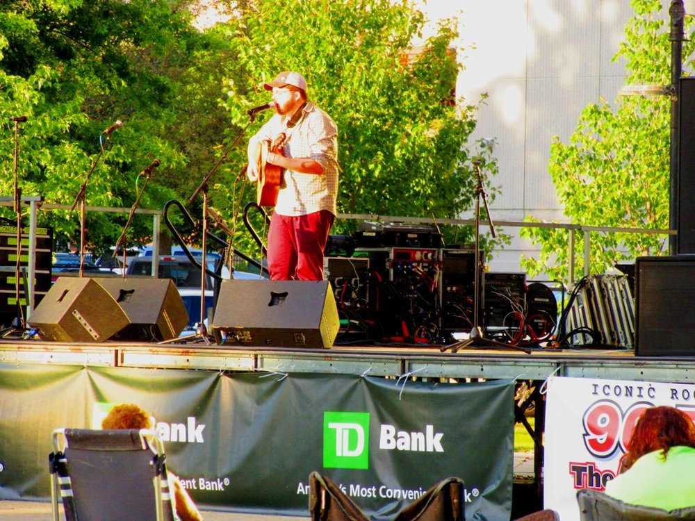 Andy Kiniry performing at Veteran's Park free Thursday night concert series in 2017