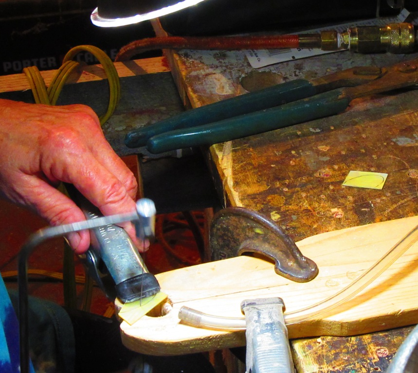 hand-sawing the pearl