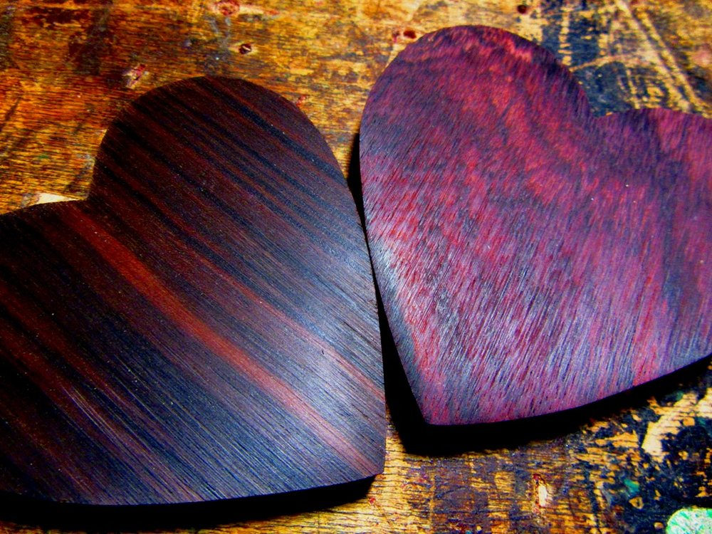 raw Ebony and Rosewood backs