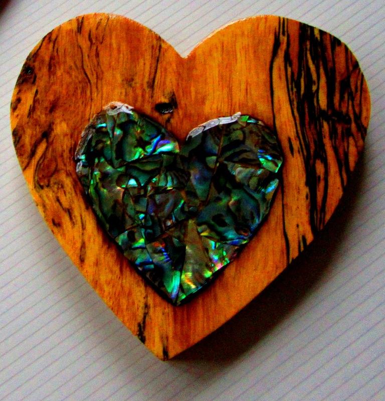Spalted Tamarind with Abalam mosaic inlay