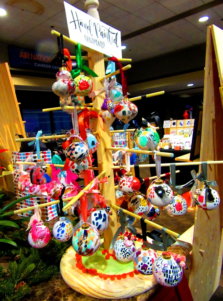 Angelique Devitte's hand-painted ornaments