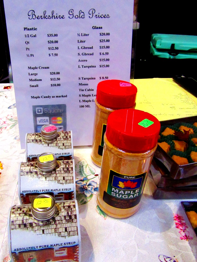 Berkshire Gold product prices and Maple Sugar!