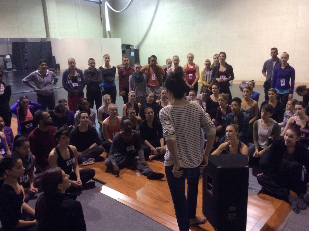 100 dancers get ready for auditions at C-5 Studios