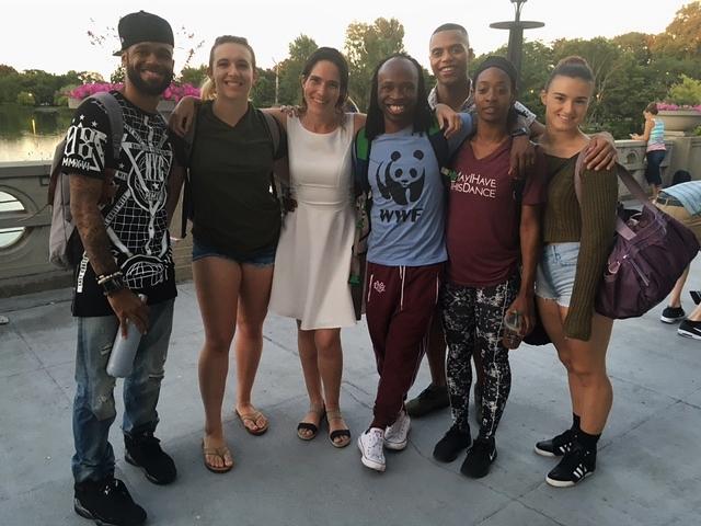 Josie Davis with Fantasmagorie Dancers at Humboldt Park Boathouse