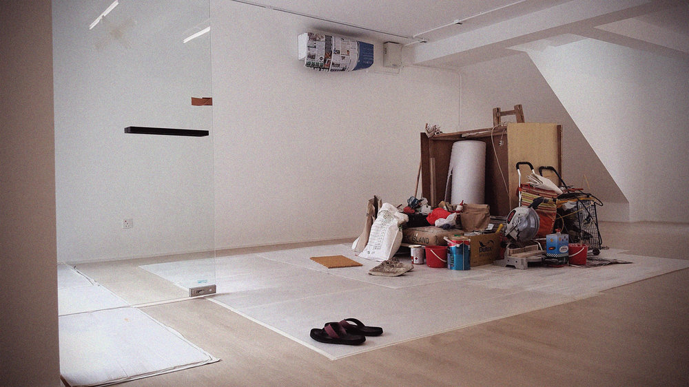 Flooring laid down, wall surfaces painted, AC's installed.
