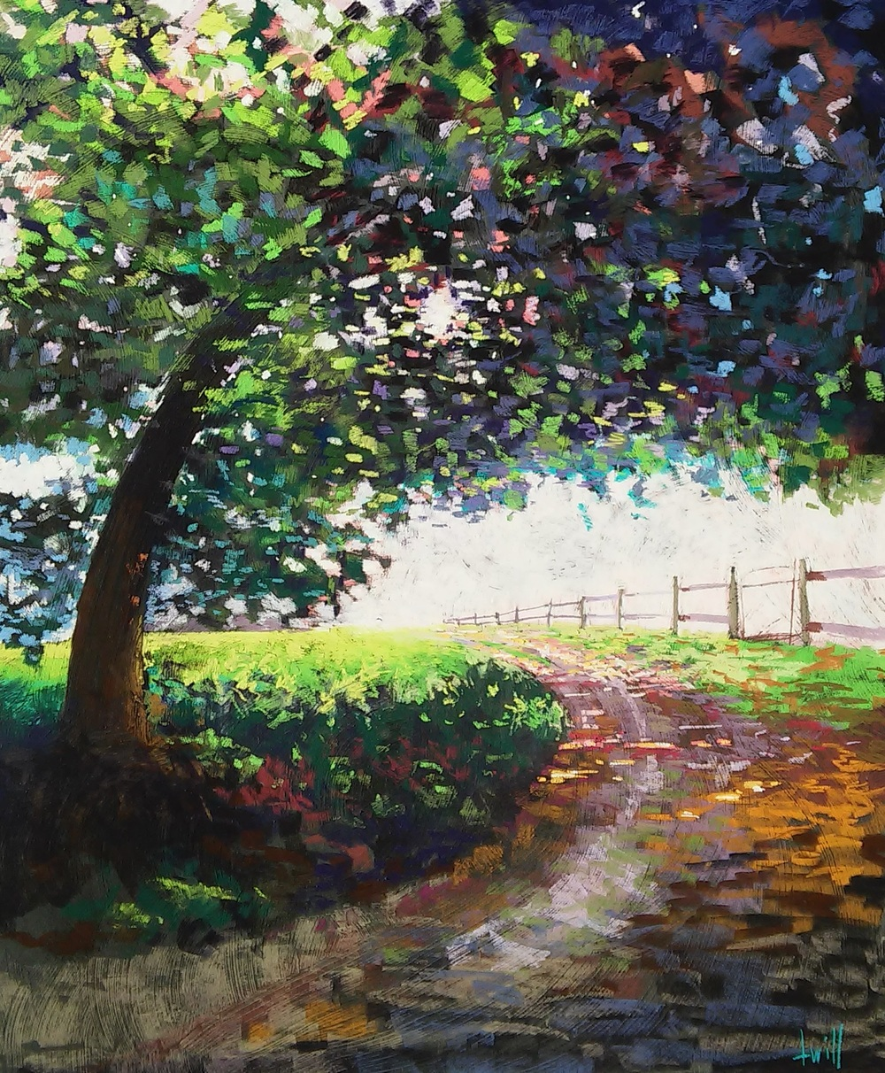 Clarks Ellioak Farm in Summer  Soft pastels on pumiced gatorboard 40x48  SOLD