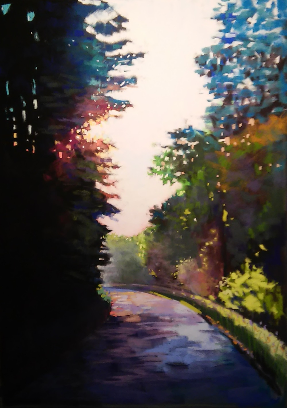 Around the Bend  soft pastel on LaCarte paper 25x30  SOLD