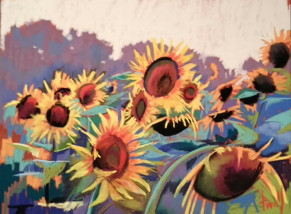 19x25 LaCarte Sunflower Study II  AVAILABLE