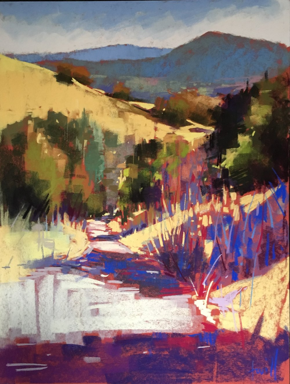 Leaving La Casita, Sonoma 19x25  SOLD