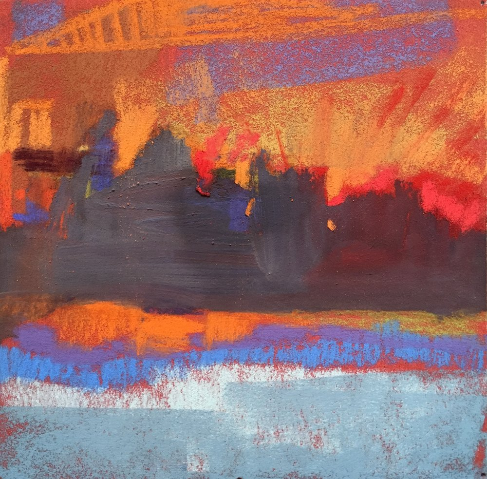 Abstract Orange I SOLD