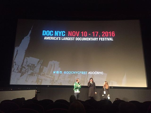 "Our director @wrenchsam and Winston Marshall doing a Q&A at our film ""We wrote this yesterday"" which premiered at NYC doc film festival."