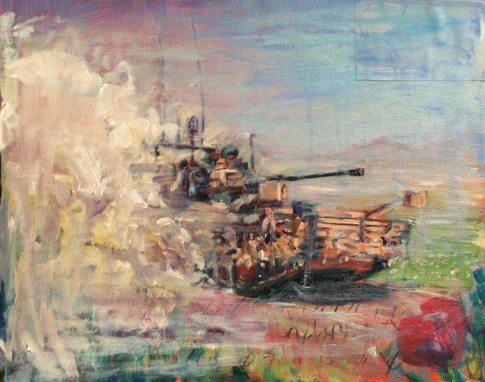 MEREBIMUR, Oil on Canvas, 400 x 600mm, SOLD