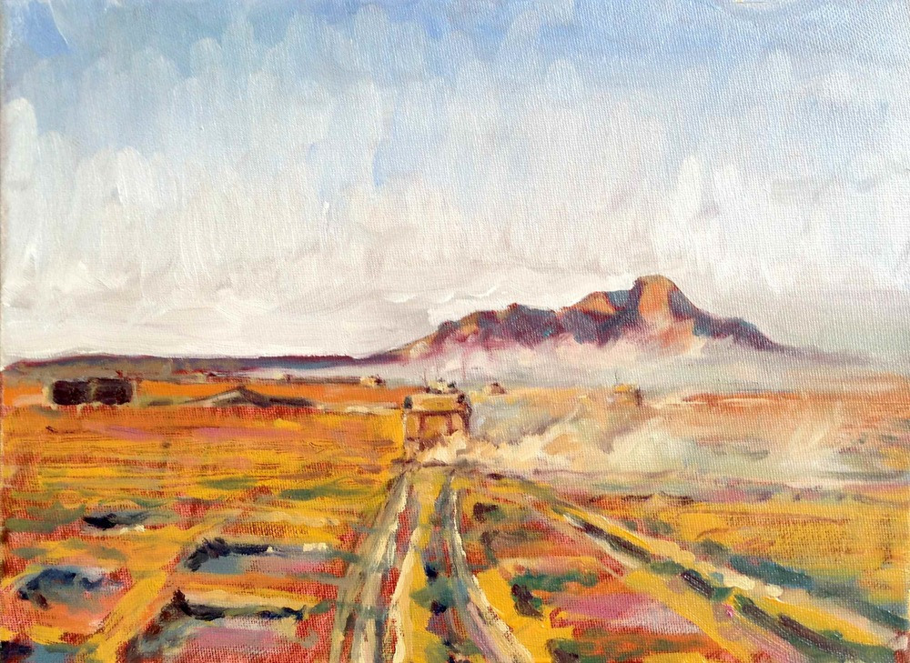 AGWANI GHAR, Oil on Canvas, 200 x 300mm, SOLD