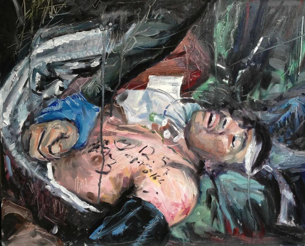 THE HANDOVER, Oil on Canvas Board, 400 x 600mm