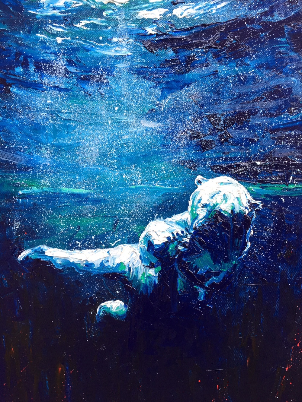 UNDERWATER EXPLORER *SOLD* Prints available Oil on Canvas Board 457 x 356mm