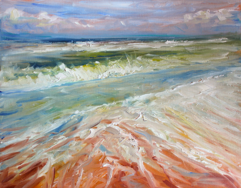 HOLKHAM BEACH Oil on Canvas Board (Unframed) 508 x 406mm