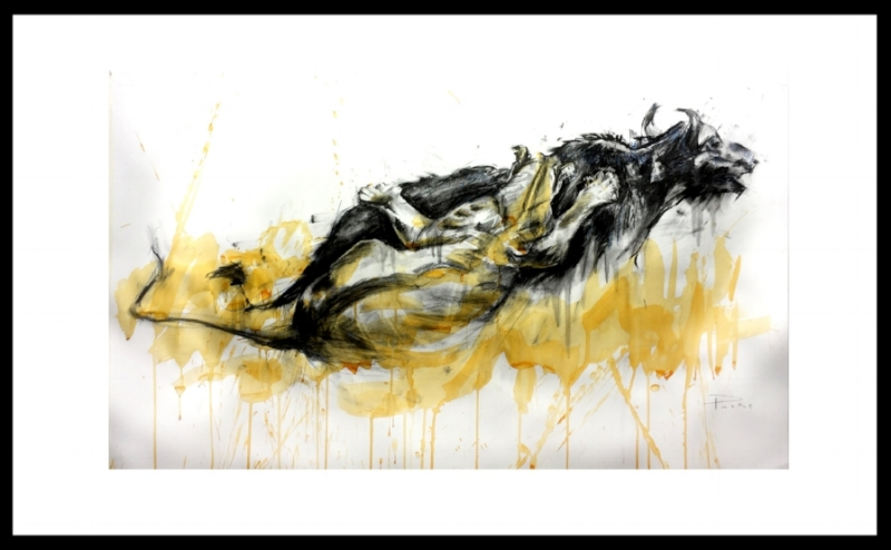 THE KILL *SOLD* Charcoal and Indain Ink 860 x 1270mm