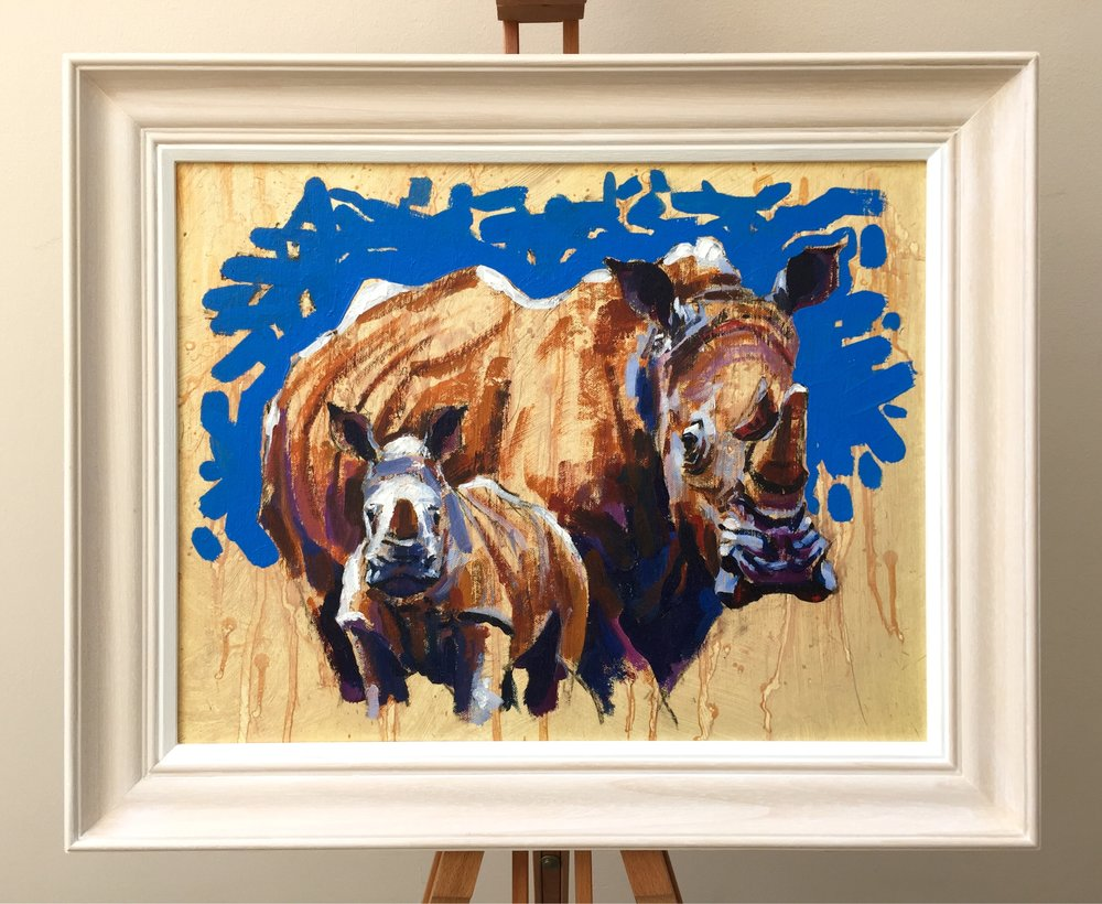 Cow & Calf, 18.5x14.5 Inches, oil on canvas board, £700