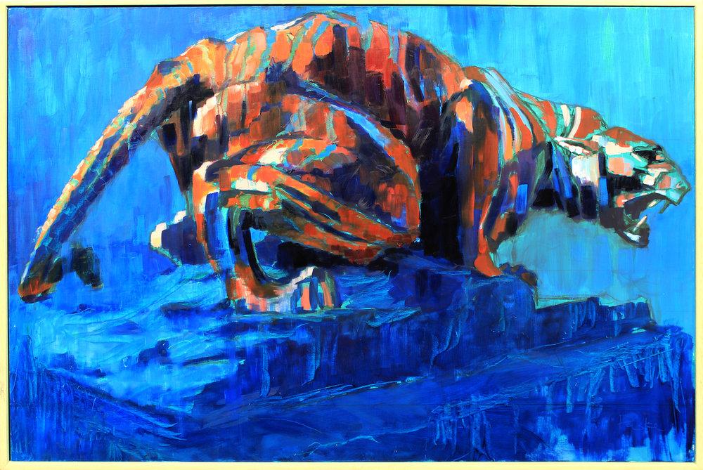 'The King is Dead', Oil on board, 92 x 61 cm, £3,000