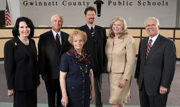 Pictured left to right: Dr. Mary Kay Murphy; Dr. Robert McClure, 2016 Chairman; Louise Radloff, 2016 Vice-Chairman; Daniel Seckinger; Carole Boyce; and CEO/Superintendent J. Alvin Wilbanks.