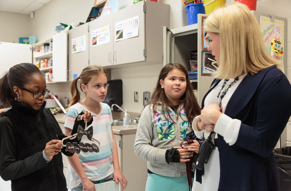 """Through the Design Theory process, students create a simple machine to solve a problem, says assistant principal  Stacey Pickett.  """"The students built their own prototypes, and they'll be presenting their projects to the students,"""" using the Shark Tank model. Projects that get the green light from their peers will be developed further."""