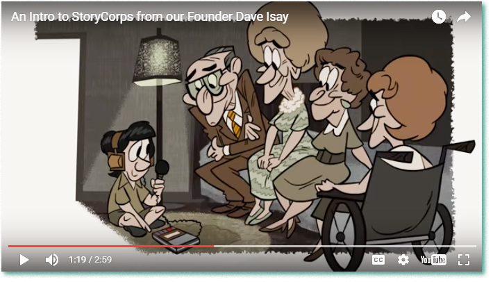 Click  to see videos of animated Story Corps interviews.