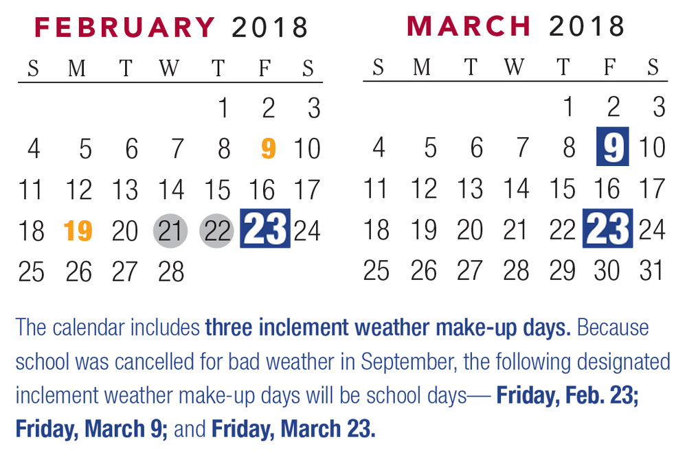 GCPS provides parents with school calendar reminders Communique