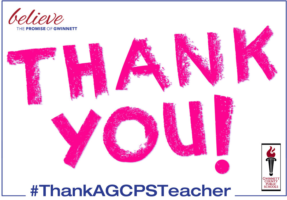 You can click on this image or the image below to download a blank #ThankAGCPSTeacher sign to print.