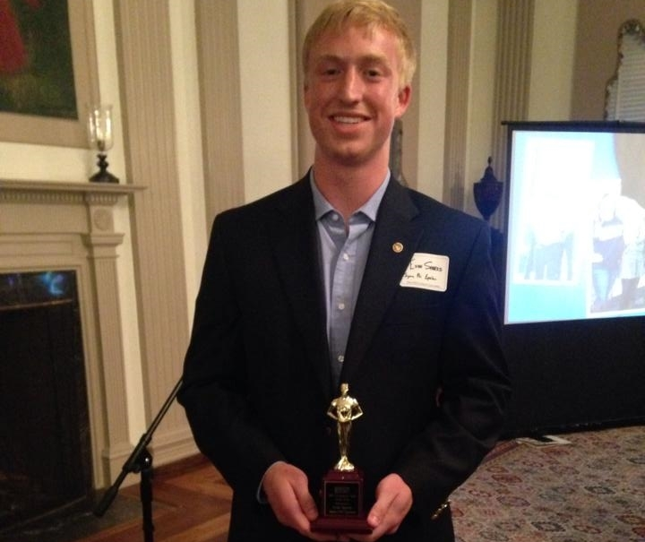 Evan Sparks, Sigma Phi Alumni wins Fraternity Man of the Year!