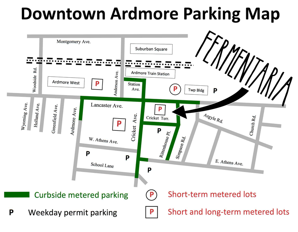 The downtown Ardmore parking map.