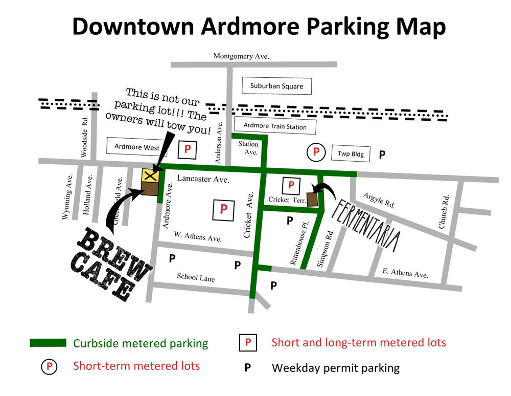 Ardmore Parking Map