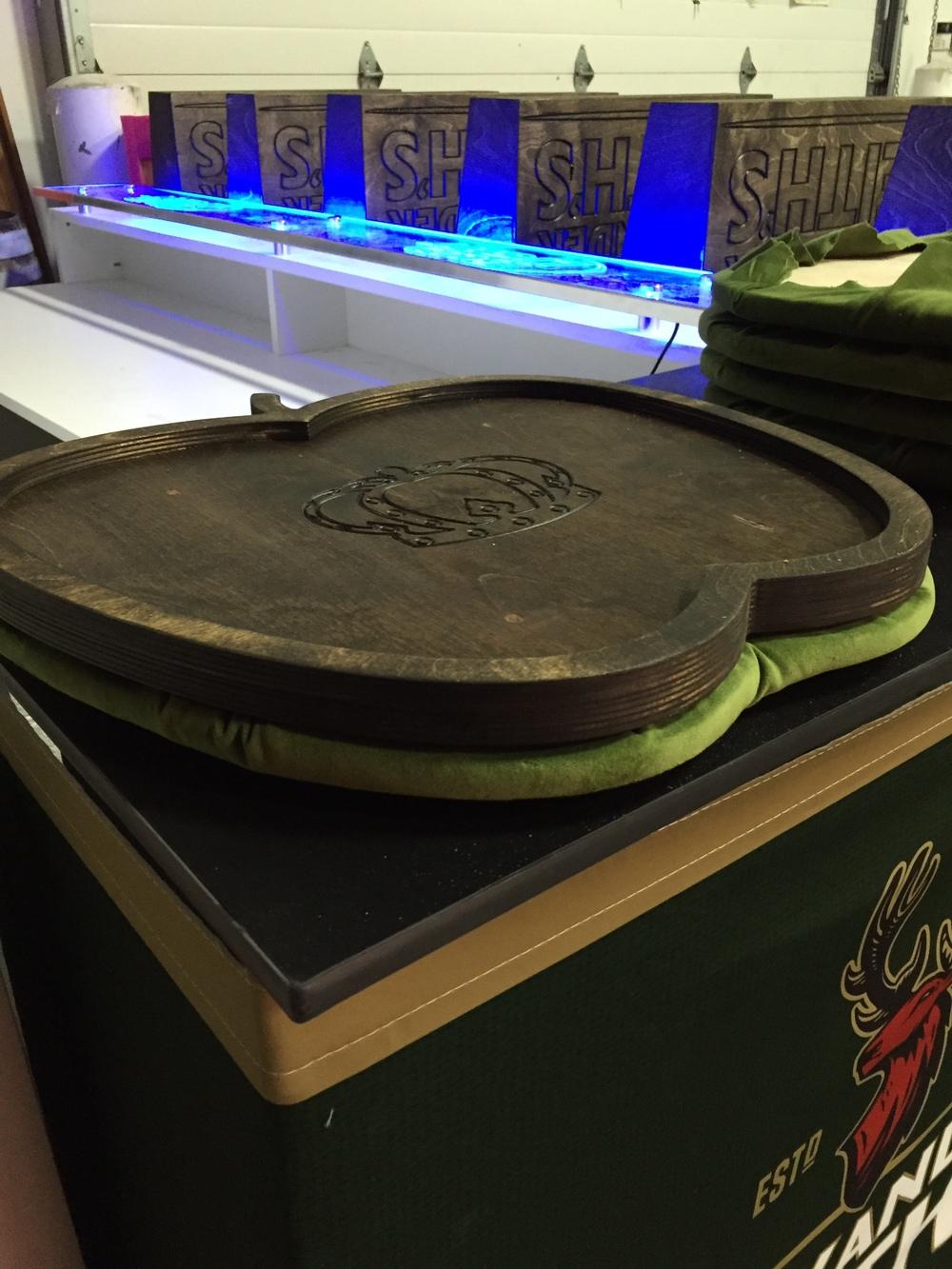 Crown Royal Apple serving trays