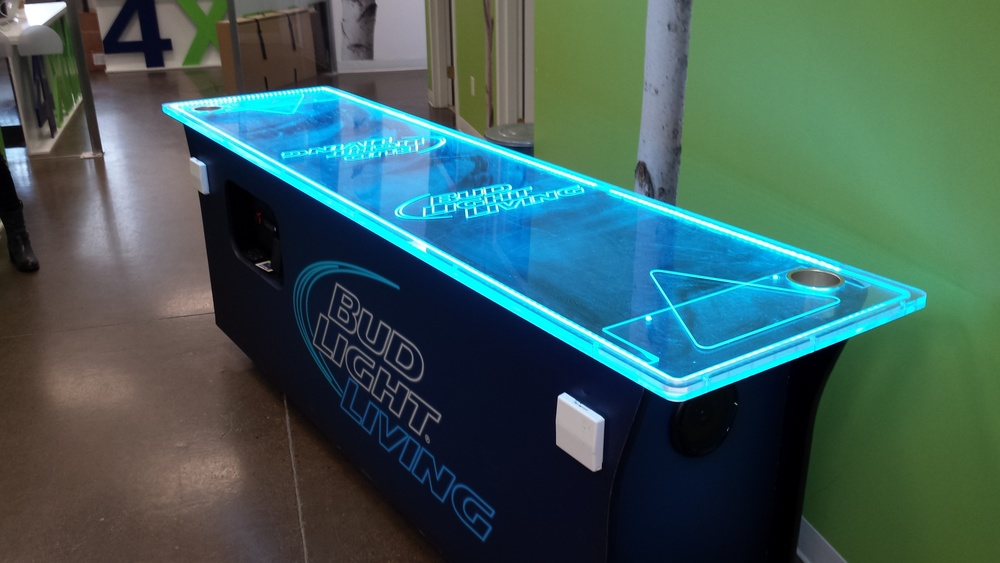 Interactive Led Beer Pong Table 4Build - Custom builds, construction, pop-up stores — 4XM.ca