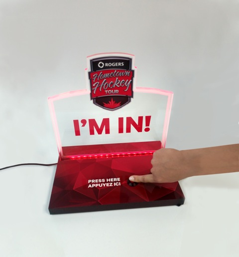 Light-up button - Rogers Hometown Hockey