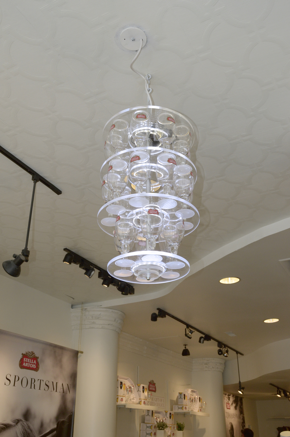 LED chalice chandelier