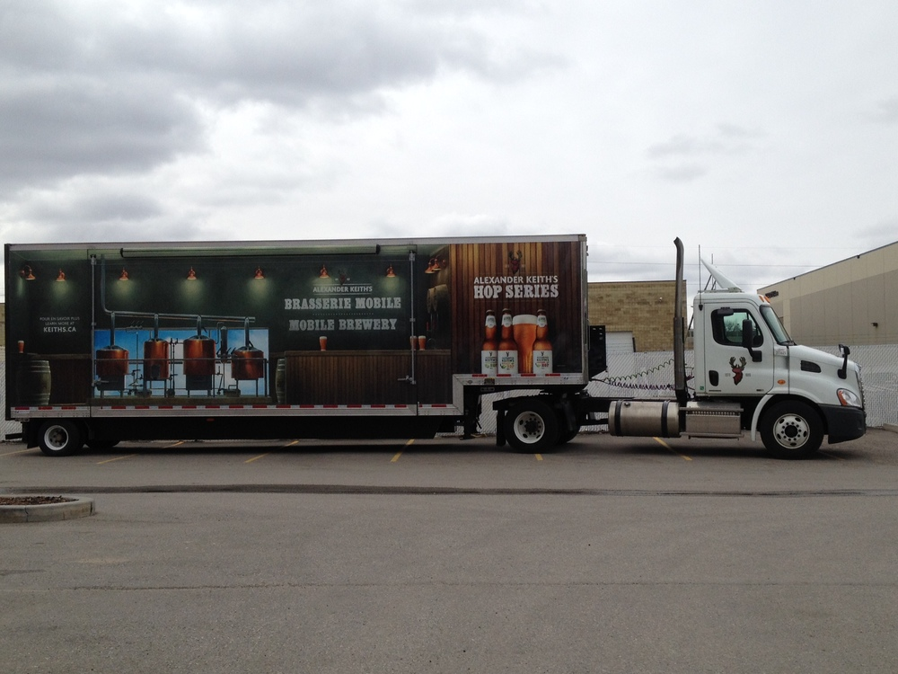 Truck trailer wrap - Alexander Keith's Mobile Brewery