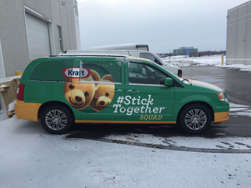 Van wrap - Kraft #Sticktogether Squad