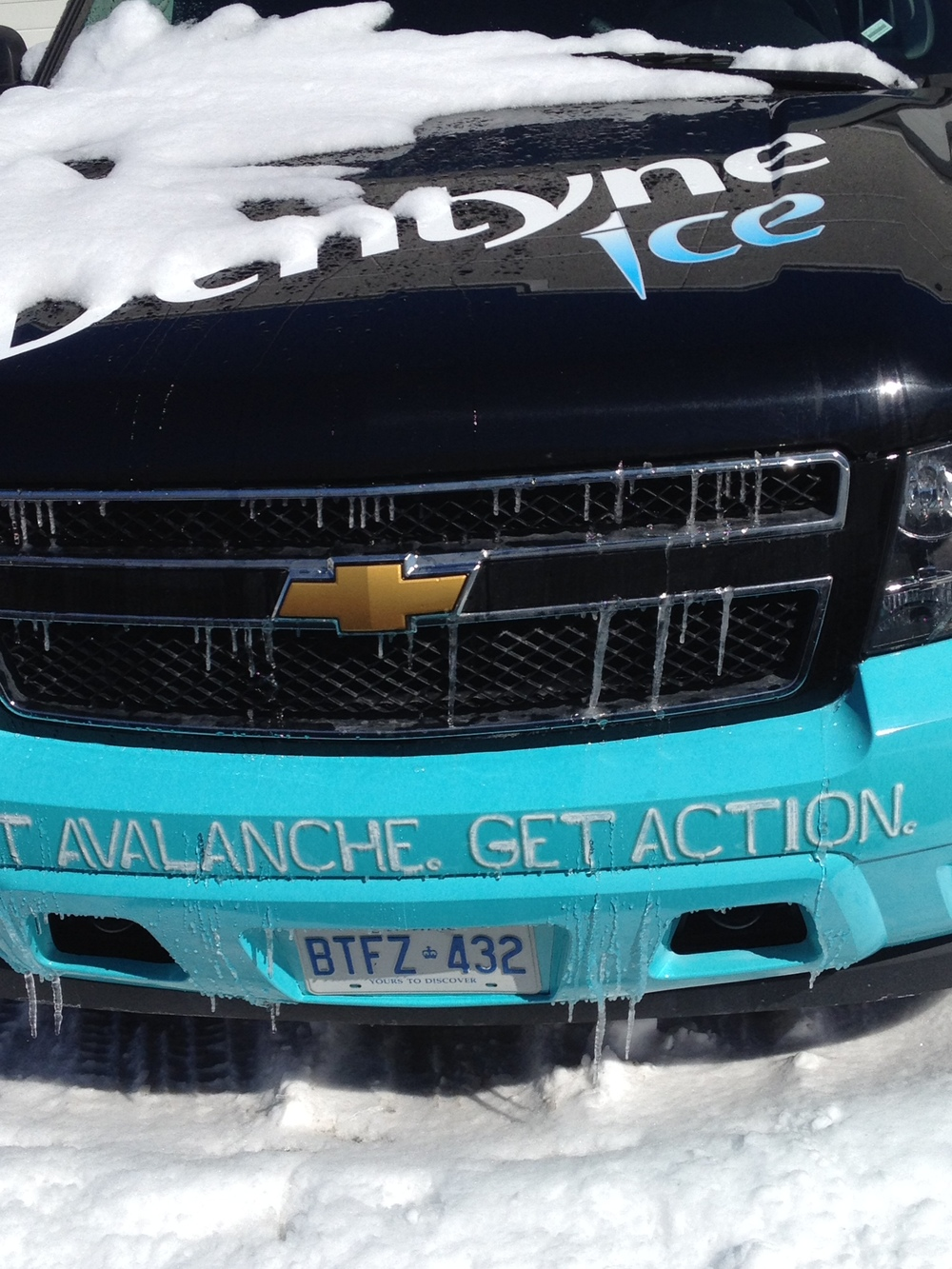 Dentyne Ice vehicle wrap (partial)