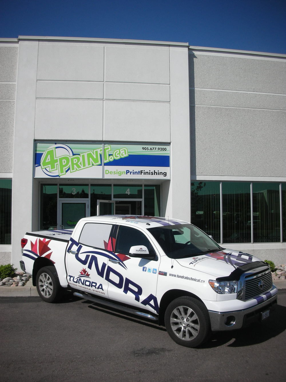 Pick-up truck wrap - Tundra